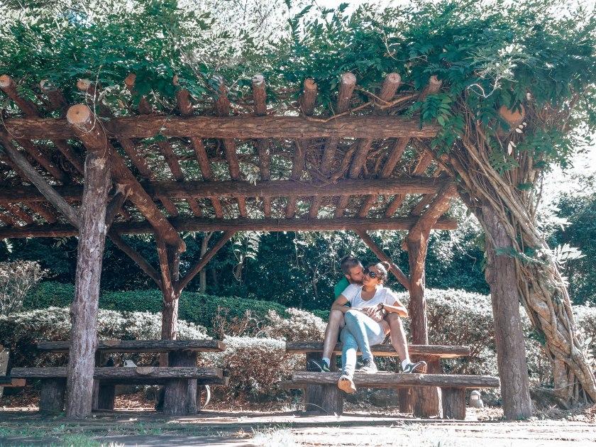 Poet's park covered gazebo, Jeju, South Korea