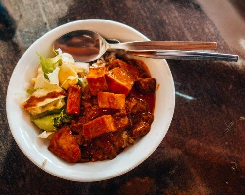 Vegetarian Rendang at Yun Shui Ge Vegetarian House, Penang Malaysia