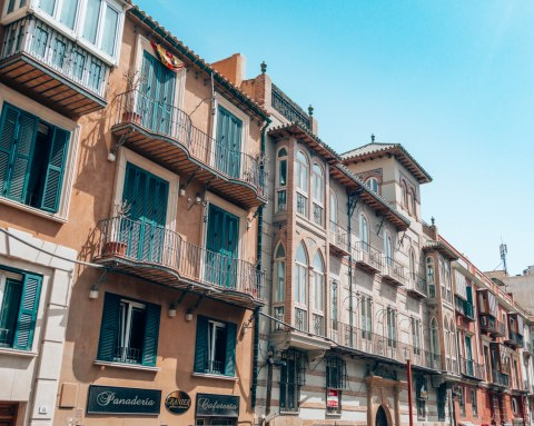 Beaautiful facades balconies Valencia