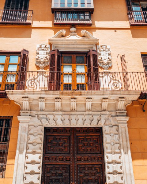 beautiful balcony malaga spain