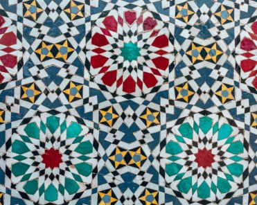 Beautiful Colourful flower pattern zellige Mosaic Morocco