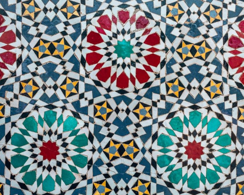 Beautiful Colourful flower pattern zellige Mosaic Morocco