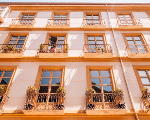 beautiful simple balconies malaga spain
