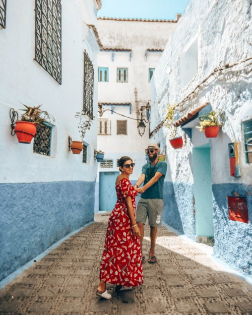 Chefchaouen blue streets wediditourway morocco