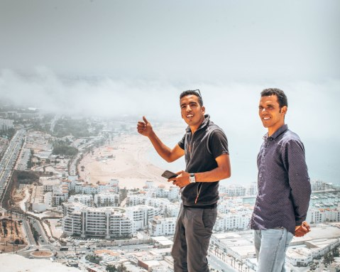 Our guides, Ismail and Mustapha, looking cool overlooking Agadir