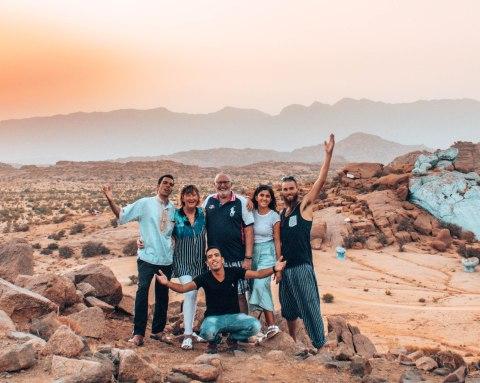 Eco Desert Morocco tour group Tafraout painted rocks