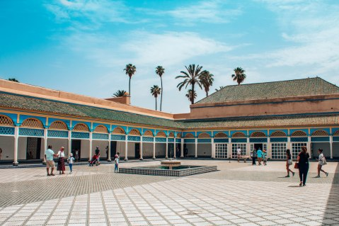 El Bahia Palace courtyard Marrakech Morocco
