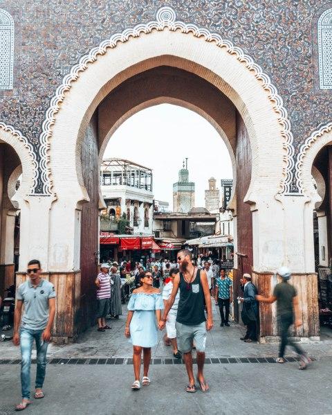 Fez Bab Boujloud gate wediditourway