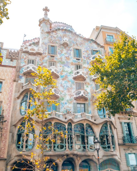 Gaudi's Casa Battlo in Barcelona