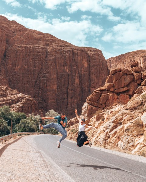 gorges of the Todra Boumalen Dades Morocco Africa jumping wediditourway