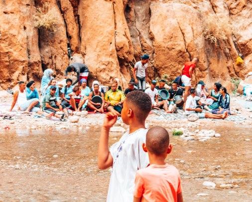 Gorges of the Todra locals