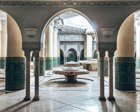 Hassan 2 mosque casablanca morocco ablution fountains arch