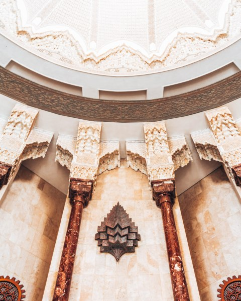 Hassan 2 mosque casablanca morocco arch details