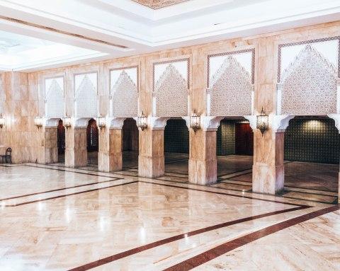 Hassan 2 mosque casablanca morocco arch hallway