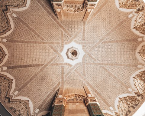 Hassan 2 mosque casablanca morocco ceiling dome