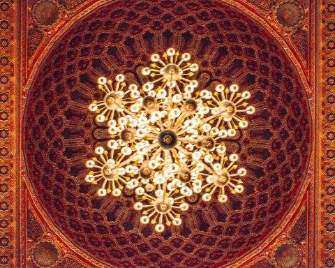 Hassan 2 mosque casablanca morocco chandelier details