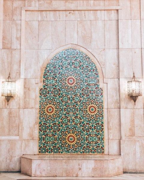 Hassan 2 mosque casablanca morocco fountain