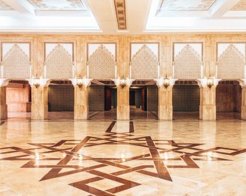 Hassan 2 mosque casablanca morocco hallway
