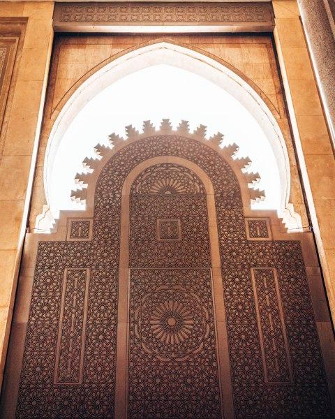 Hassan 2 mosque door sun casablanca morocco