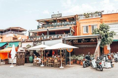 Marrakech souk restaurant