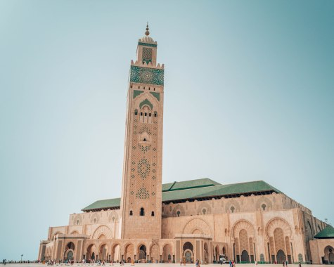 View of Hassan II Mosque from outside