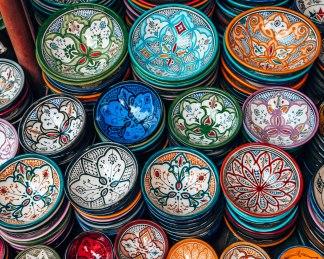 Marrakech souk mosiac bowls