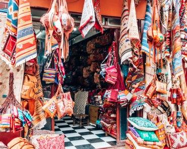 Marrakech souk carpets