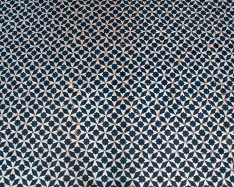 Marrakech morocco bahia palace mosaic floor