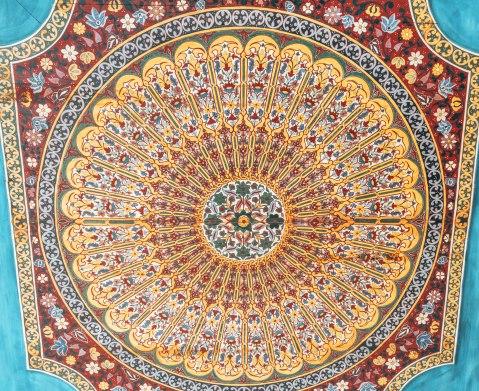 Marrakech morocco bahia palace mosaic pattern