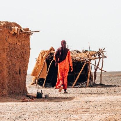 Nomad tribe Sahara desert mother
