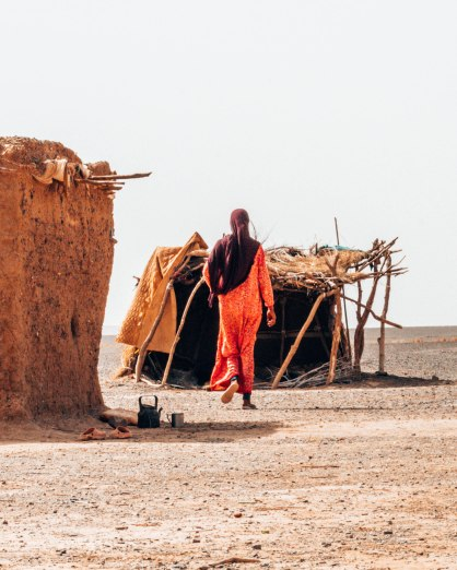 Nomad tribe Sahara desert mother