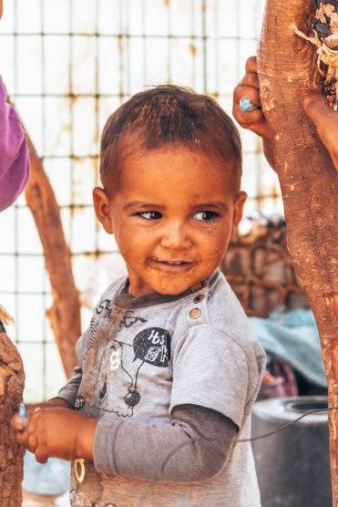 Nomad tribe Sahara desert child