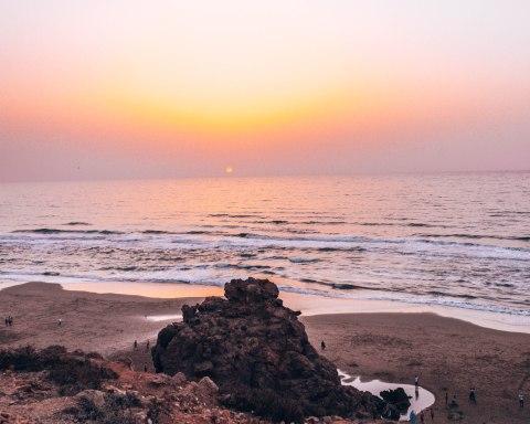 Mirleft beach sunset
