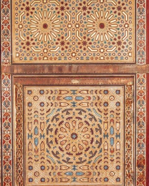 morocco pattern on doors mosaic