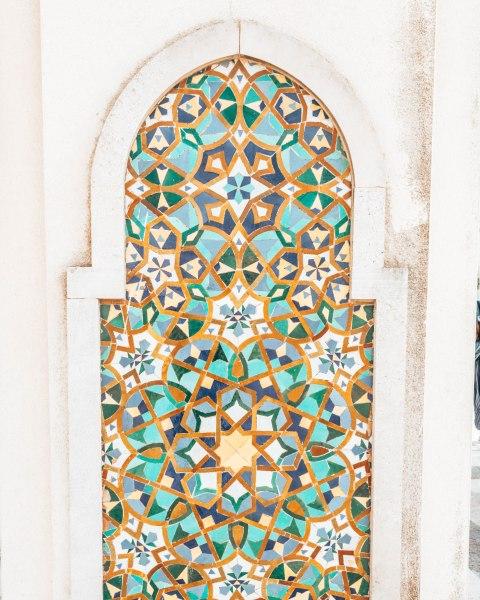 Mosaic details hassan 2 mosque casablanca morocco