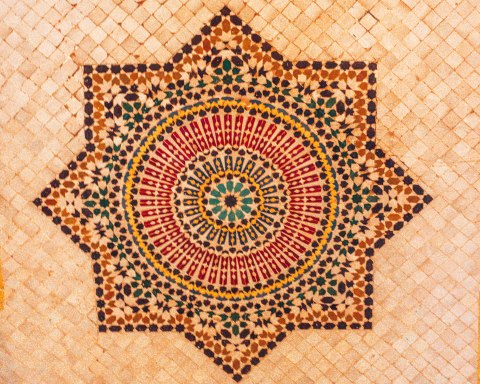 Star zellige mosaic fez morocco pattern