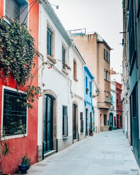 Streets of El Masnou near Barcelona