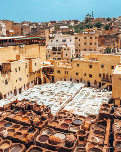 Chaoua leather tannery, Fes