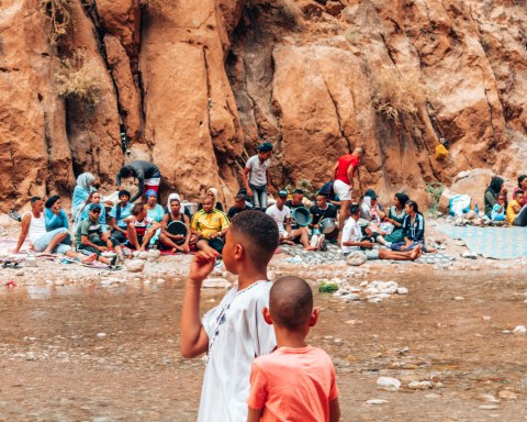 Todra Gorge locals Morocco