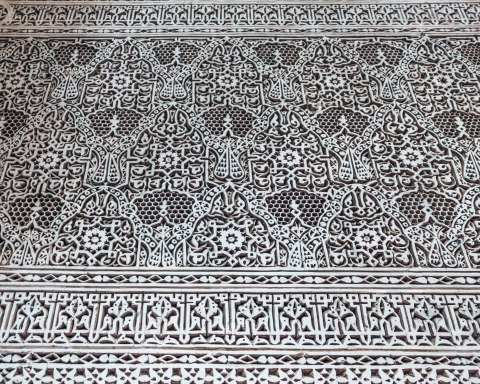 Yamanda fez riad carving details patterns morocco