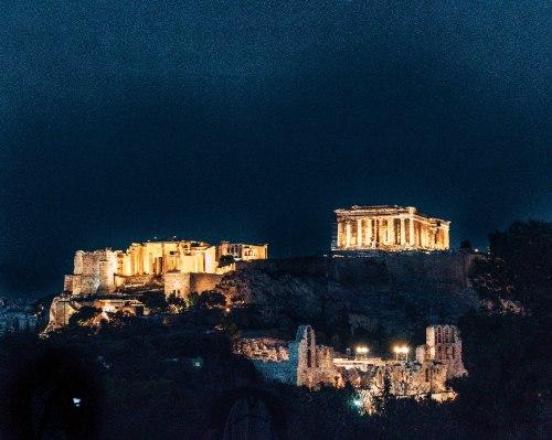 Acropolis at night Athens Greece 2