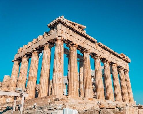 Acropolis Parthenon columns Athens Greece 2