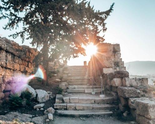 Acropolis steps Athens Greece