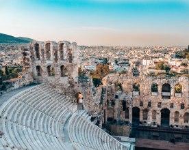 Acropolis Theatre of Dionysus Athens Greece