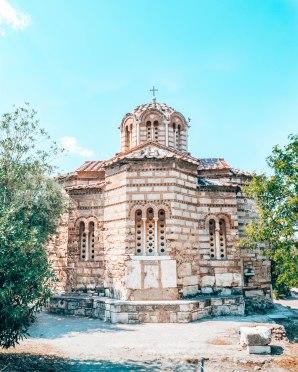 Ancient Agora of Athens church of the Holy Apostles Greece