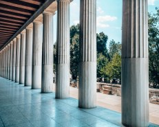 Ancient Agora of Athens columns Greece