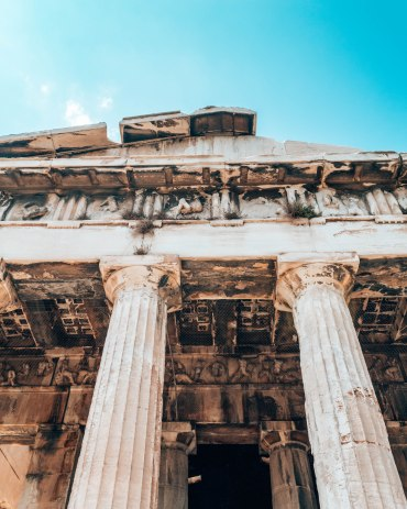 Ancient Agora of Athens temple of Hephaestus columns Greece