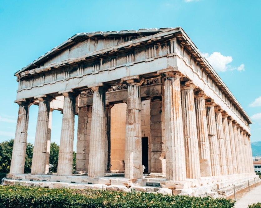 Ancient Agora of Athens temple of Hephaestus Greece 3