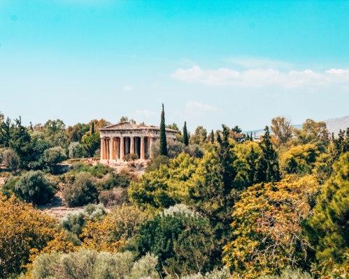 Ancient Agora of Athens temple of Hephaestus Greece