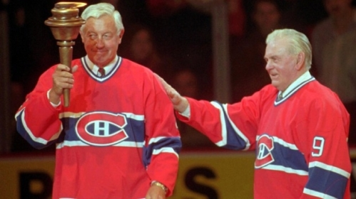Beliveau and Richard say farewell to the Montreal Forum